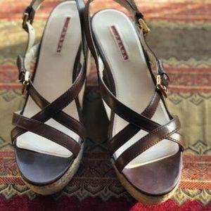 Prada Platform Cork Heel Clog 9.5 US $790